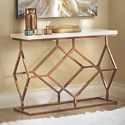 diamond console table