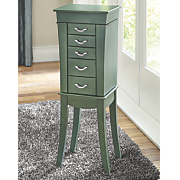 sea green jewelry armoire