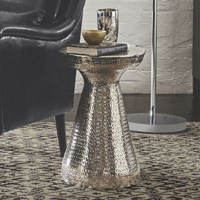 Talia Hammered Pedestal Table