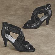 serina croc sandal