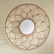 rose gold moroccan mirror