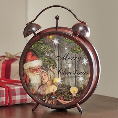 Holiday LED Clock Lantern