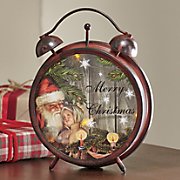 holiday led clock lantern