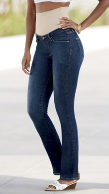 Tummy Trimmer Straight-Leg Jean