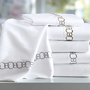 300 thread count chain embroidered sheets