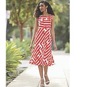 tangerine stripe dress