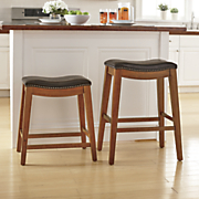 24  and 28  nailhead stools