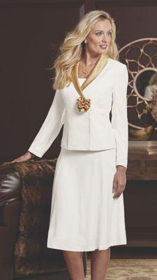 Rosalee Satin Trim Dress Suit