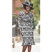 appolina hat and skirt suit