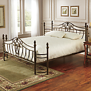 brushed bronze bed