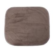 brown velour chair pad   20  x 18