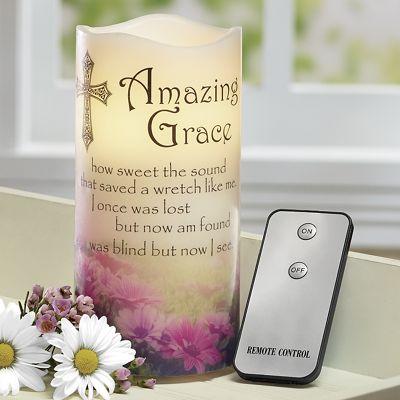 LED Amazing Grace Musical Candle