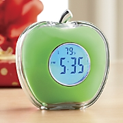 talking apple clock 8