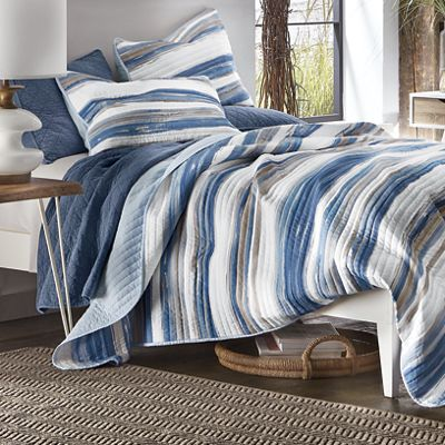 Marina Navy Oversized Quilt and Sham