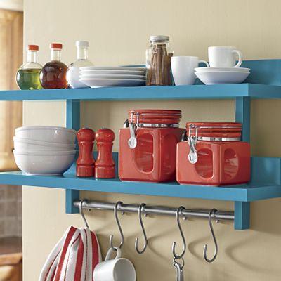 2-Tier Wall-Mount Kitchen Storage Rack