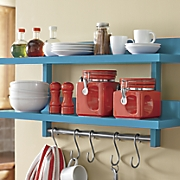 2 tier wall mount kitchen storage rack
