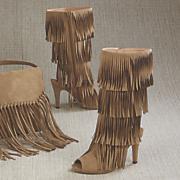odonna open toe fringe boot