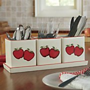 apple flatware caddy