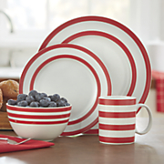 16 pc  just dine bistro dinnerware set