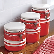 set of 3 just dine bistro canisters