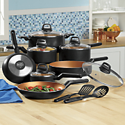 14 pc  coppertone nonstick cookware set by black   decker