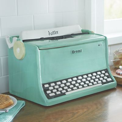 Retro Typewriter Bread Box