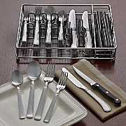 72 pc  adams flatware set with caddy