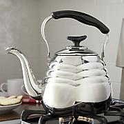 3 qt  stainless steel portobello tea kettle by ginny s