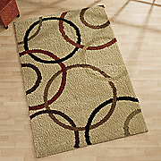 circle design shag rug