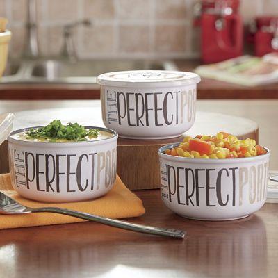 Set of 3 Dip Bowls with Lids