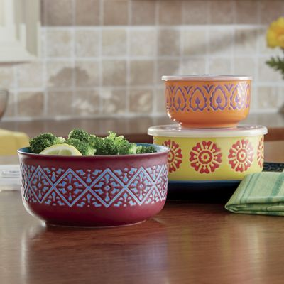 Set of 3 Nesting Bowls with Lids