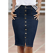 So Chic Denim Skirt