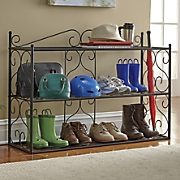 scroll shoe rack 15
