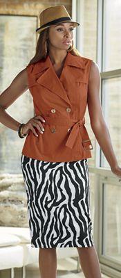 Leonda Hat, Tora Vest and Alycia Knit Skirt