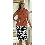 leonda hat  tora vest and alycia knit skirt