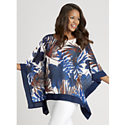 moonstruck floral poncho