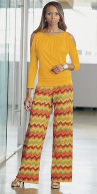 Rossi Surplice Top and Wide Leg Pant