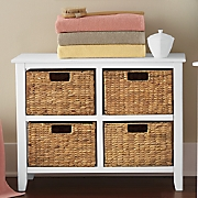 wicker basket chest
