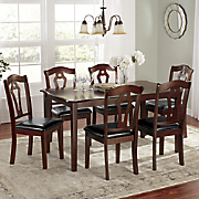 scalloped table and chairs