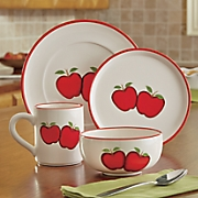 16 pc  apple dinnerware set