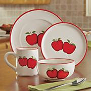 16 pc  apple dinnerware set