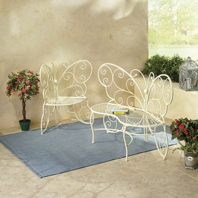 Butterfly Bench and Chair