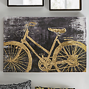 gold bicycle art
