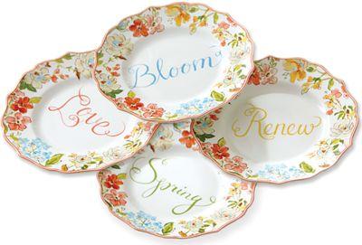 Set of 4 Aubrey Plates