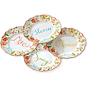 set of 4 aubrey plates