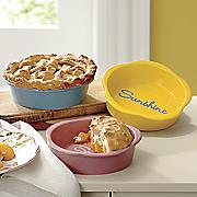 set of 3 mini spring pie plates