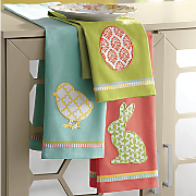 set of 3 easter dishtowels