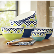 set of 5 santiago dark mixing bowls