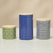set of 3 boho canisters