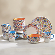 16 pc  boho dinnerware set